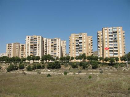 De ligging van de flats
