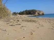 Het strand aan overzijde van de weg (Bol Nou)